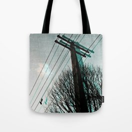 hanging by a string Tote Bag