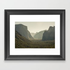 Yosemite Tunnel View Framed Art Print