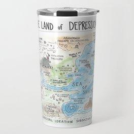 The Land of Depression Travel Mug