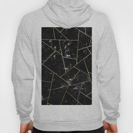 Black Marble Gold Geometric Glam #1 #geo #decor #art #society6 Hoody