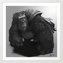 Gorilla King Art Print