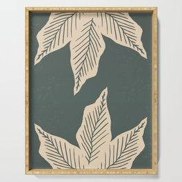 Surrounded by Plant Lovers - Green & Beige Serving Tray