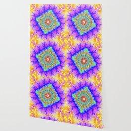 mandala yellow full color Wallpaper