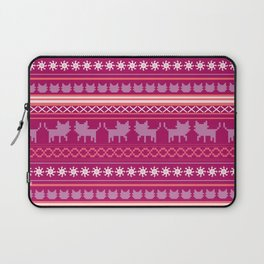Ugly Christmas Cat Sweater Laptop Sleeve