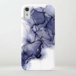 Purple Wispy: Original Abstract Alcohol Ink Painting iPhone Case