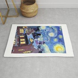 Starry Toronto Night - Van Gogh Inspired Rug