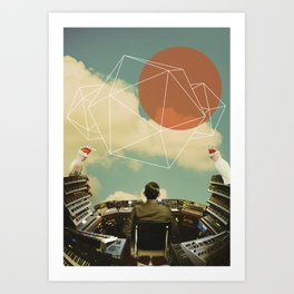 'The pianoman and the birds' Art Print