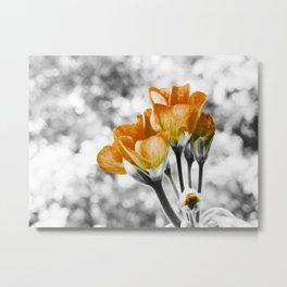 Golden Flowers : Pop of Color Metal Print
