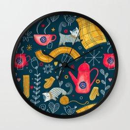 Pattern #71 - Hygge - Cosy winter Wall Clock