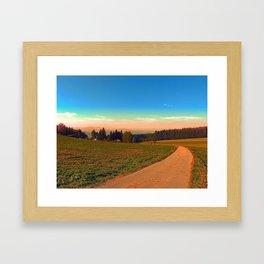 Hiking into the sunset   landscape photography Framed Art Print