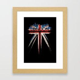 London Pride_Black Framed Art Print