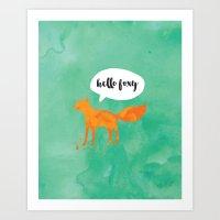 Hello Foxy Art Print
