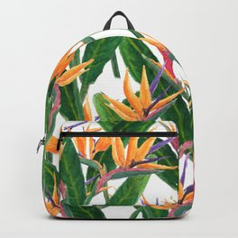 bird of paradise pattern Backpack