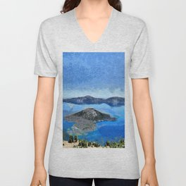 Crater Lake from Watchman Peak Unisex V-Neck