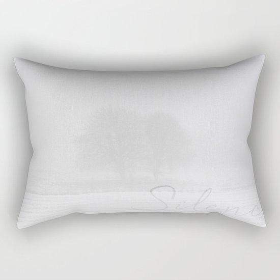 Winter scenery with tree fog Rectangular Pillow