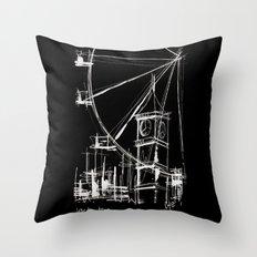 Black London Throw Pillow