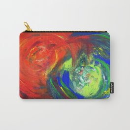 Dynamic Swirls of Color - Red Carry-All Pouch