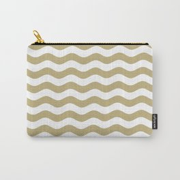 Wavy Stripes (Sand/White) Carry-All Pouch