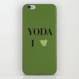 I heart Yoda iPhone Skin