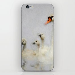 Pen and her Cygnets iPhone Skin