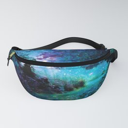 Fantasy Garden Path Teal Purple Fanny Pack