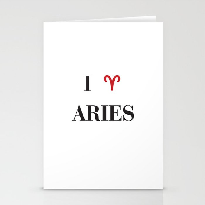 I heart Aries Stationery Cards