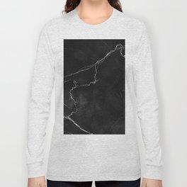 Black Marble Long Sleeve T-shirt