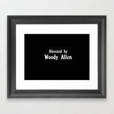 Directed By Woody Allen Framed Art Print