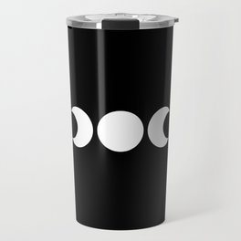 Moonphases   Black and White   Moon Silouettes Travel Mug