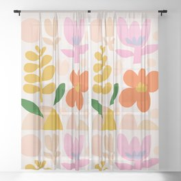 Abstraction_Floral_Minimalism_001 Sheer Curtain