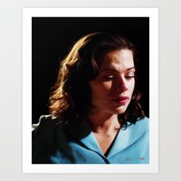 peggy carter Art Prints featuring Agent Peggy Carter by Stephanie Wu