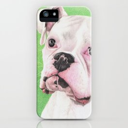 The White Boxer iPhone Case