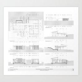 Living comunity blueprints 2 Art Print