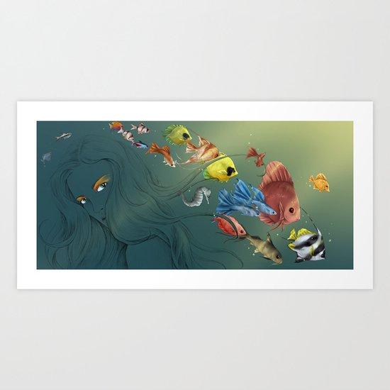 Colour fish  Art Print