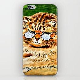 ORANGE TABBY CAT - Louis Wain's Cats iPhone Skin
