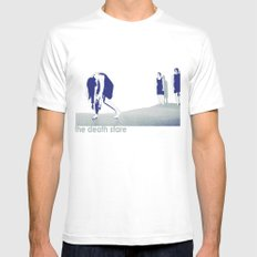 The Death Stare MEDIUM White Mens Fitted Tee