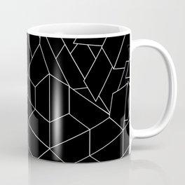 White Lines on Black III Coffee Mug