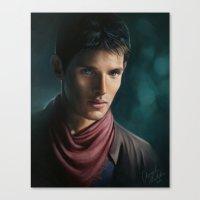 merlin Canvas Prints featuring Merlin by Angela Taratuta