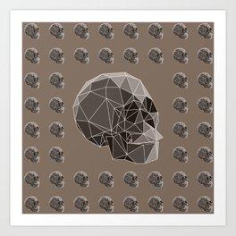 Geometric skulls Art Print