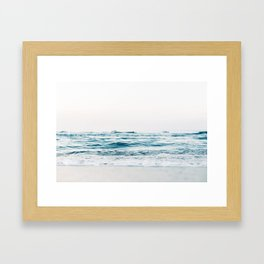 Beautiful White Beach Framed Art Print