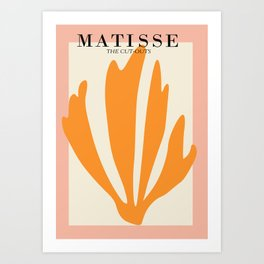 Henri matisse the cut outs contemporary, modern minimal art Art Print