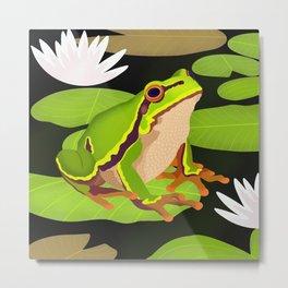 Lilypads Bullfrog Metal Print