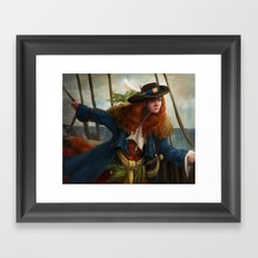Pirate Queen Framed Art Print