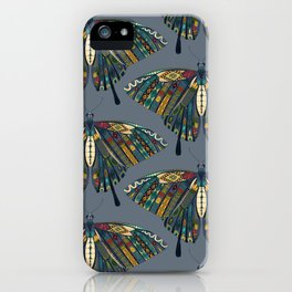 swallowtail butterfly indigo iPhone Case