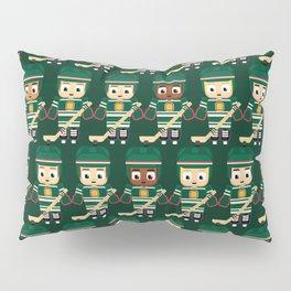 Super cute sports stars - Ice Hockey Green Pillow Sham