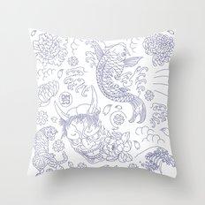 Japanese Tattoo Throw Pillow