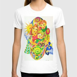 The Family, illustration made by Ines Zgonc T-shirt