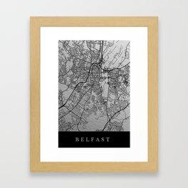 Belfast map Framed Art Print