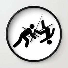 Stickman Throw Wall Clock