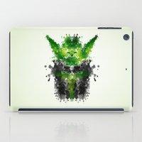 rorschach iPad Cases featuring Rorschach Yoda by badbugs_art
